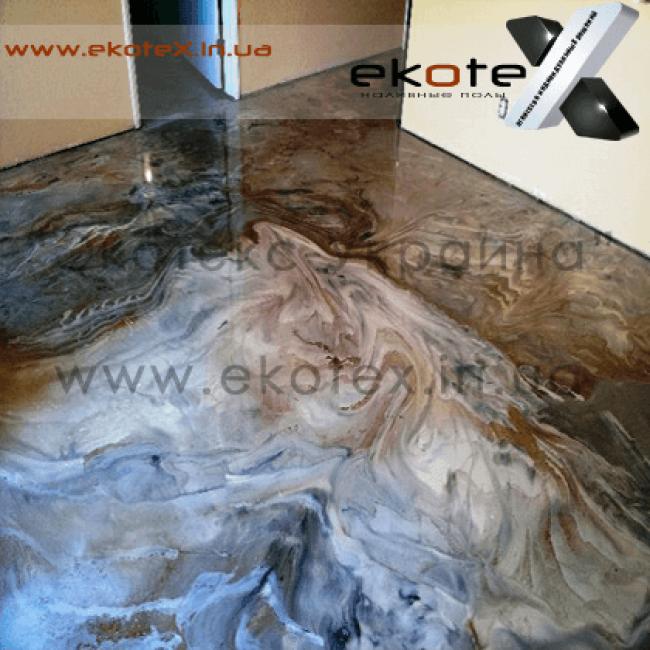 декоративные наливные полы ekoteX наливной пол lux/ex-229