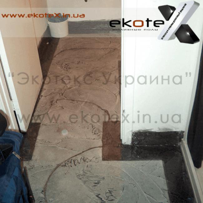 декоративные наливные полы ekoteX наливной пол lux/ex-236