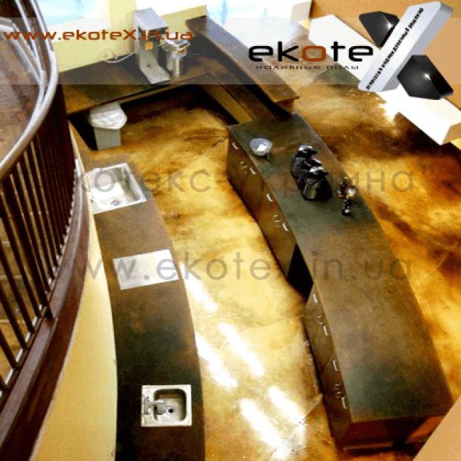 декоративные наливные полы ekoteX наливной пол lux/ex-239