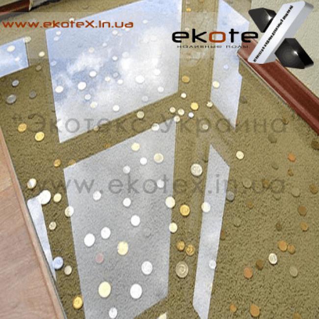 декоративные наливные полы ekoteX наливной пол lux/ex-244