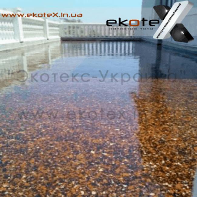 декоративные наливные полы ekoteX наливной пол lux/ex-255