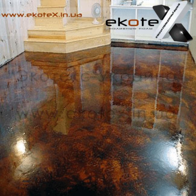 декоративные наливные полы ekoteX наливной пол lux/ex-256