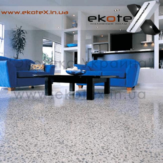 декоративные наливные полы ekoteX наливной пол lux/ex-257