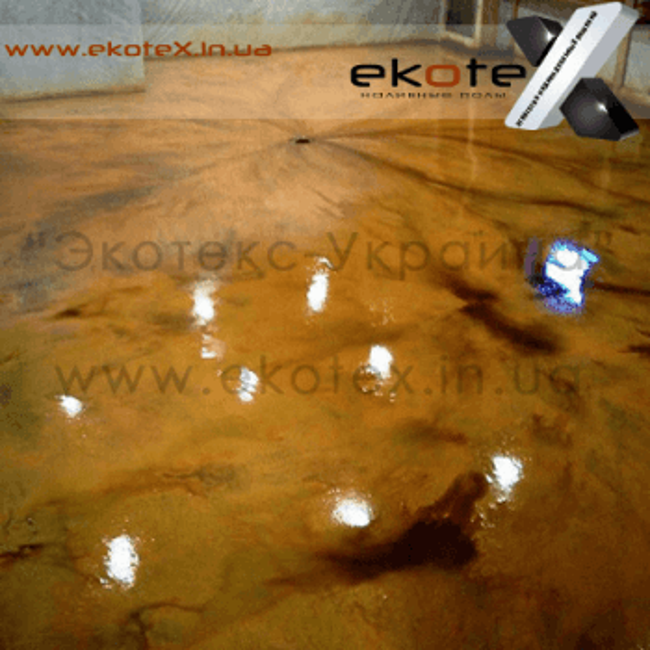 декоративные наливные полы ekoteX наливной пол lux/ex-259