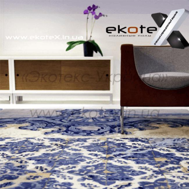 декоративные наливные полы Коутекс наливной пол lux/ex-207