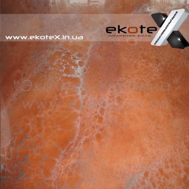 декоративные наливные полы ekoteX наливной пол lux/ex-213