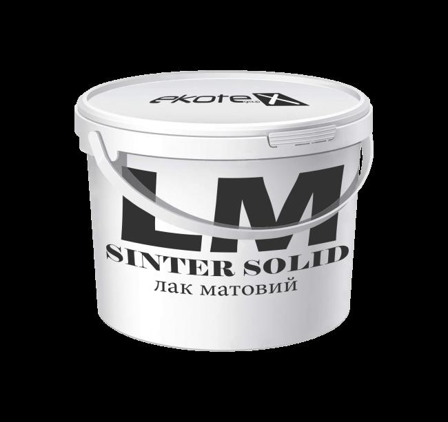 «SINTER solid» LM (лак матовый)