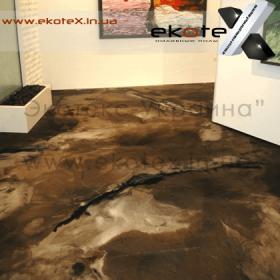 декоративные наливные полы ekoteX наливной пол lux/ex-286