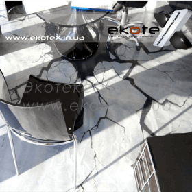 декоративные наливные полы ekoteX наливной пол lux/ex-216